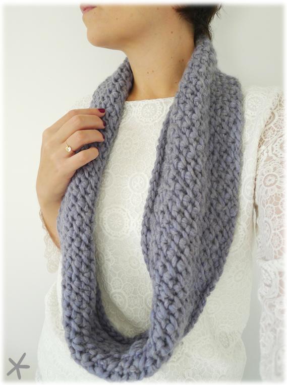 tricoter un snood aiguille circulaire